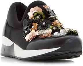Dune London ELECKTRA - BLACK Embellished Slip On Sneaker