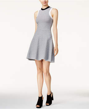 Bar III Striped Fit & Flare Sweater Dress, Created for Macy's