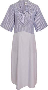 Carven Bow-Embellished Cotton Dress