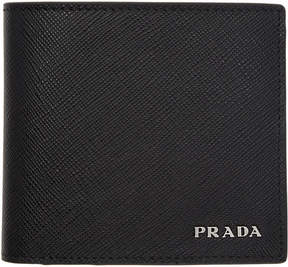 Prada Black and Red Bifold Wallet