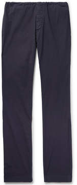 James Perse Slim-Fit Garment-Dyed Stretch-Cotton Poplin Trousers