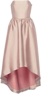 Co Bonded Silk Twill Strapless Gown