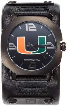 Rockwell Kohl's Miami Hurricanes Assassin Leather Watch - Men