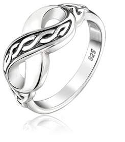 Celtic Bling Jewelry Triquetra Trinity Knot Figure 8 Infinity Sterling Silver Ring.