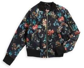 Urban Republic Girl's Floral Bomber Jacket