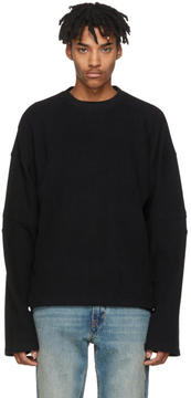 Helmut Lang Black Distorted Arm Sweatshirt