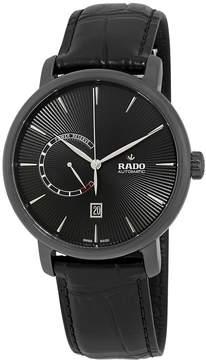Rado DiaMaster Black Dial Automatic Men's Leather Watch