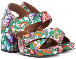 Kenzo Aori paisley plateau sandals