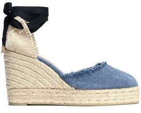 Castaner Woven And Denim Wedge Espadrilles