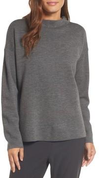 Eileen Fisher Women's Mock Neck Box Wool Sweater