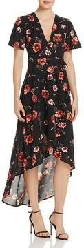 Cotton Candy Floral Print Wrap Dress