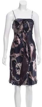 Emporio Armani Sleeveless Devoré Silk-Blend Dress