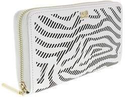 Roberto Cavalli Long Size Wlt W/zipper Audrey Silver Wallet.