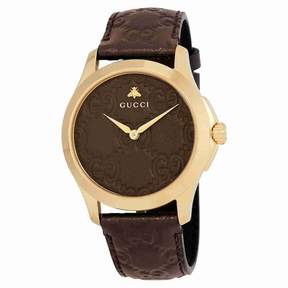 Gucci G-Timeless Brown GG Dial Men's Watch YA1264035