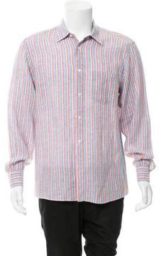Luciano Barbera Striped Linen Shirt