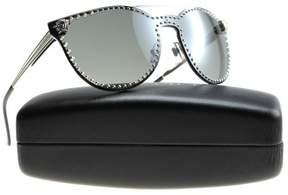 Versace VE2177 10006G Silver Grey Mirror Cat Eye Sunglasses