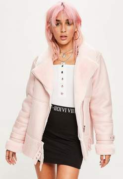 Missguided Pink Ultimate Aviator Jacket