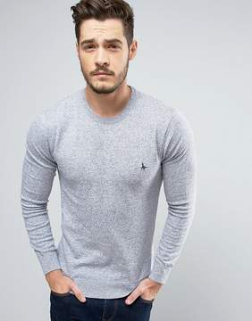 Jack Wills Seabourne Cashmere Mix Sweater in Gray