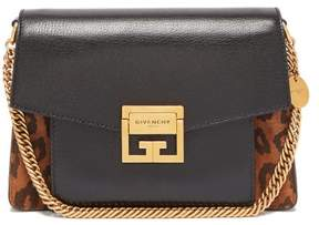 Givenchy Gv3 Mini Suede And Leather Cross Body Bag - Womens - Leopard