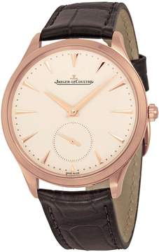Jaeger-LeCoultre Jaeger Lecoultre Master Ultra Thin Beige Dial Black Leather Men's Watch