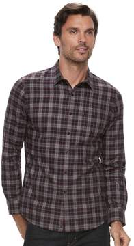 Marc Anthony Men's Slim-Fit Soft-Touch Flannel Button-Down Shirt
