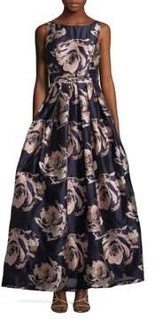 Eliza J Floral Brocade Ball Gown