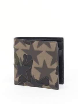 Valentino Camouflage Stars Calf Leather Billfold Wallet