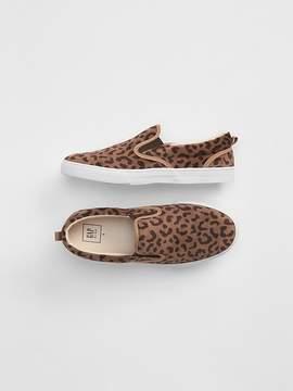 Gap Leopard Slip-On Sneakers