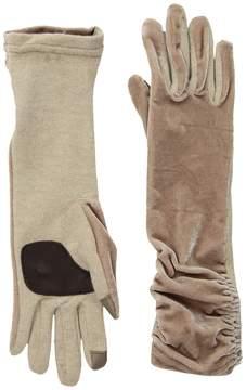 Echo Long Classic Velvet Gloves Dress Gloves