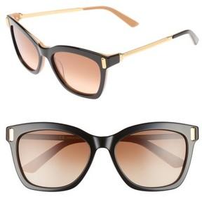 Calvin Klein Women's 55Mm Square Sunglasses - Black/ Vachetto
