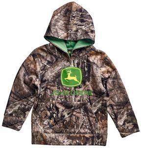 John Deere Toddler Boy Camouflaged Logo Hoodie