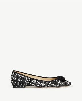 Ann Taylor Penelope Tweed Bow Flats