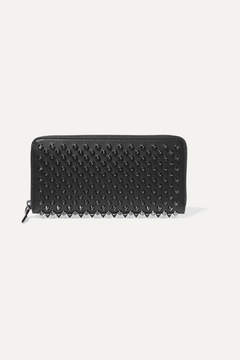 Christian Louboutin - Panettone Spiked Leather Wallet - Black