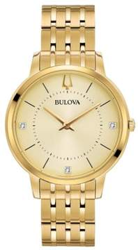 Bulova 97P123 Classic Womens Watch Gold 36mm Stainless Steel