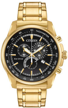 Citizen Eco-Drive Men's Gold-Tone Stainless Steel Bracelet Watch 44mm, a Macy's Exclusive Style