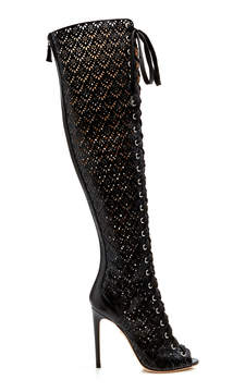 Giambattista Valli Lace-Up Over-the-Knee Boot