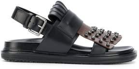 Marni fringed studded sandals