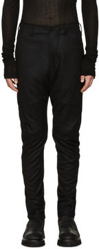 Julius Black Wool Saxony Trousers