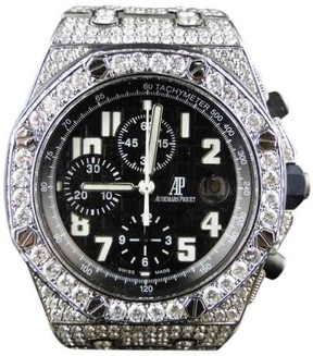Audemars Piguet Iced Out Royal Oak Offshore Diamond 26 Ct Mens Watch