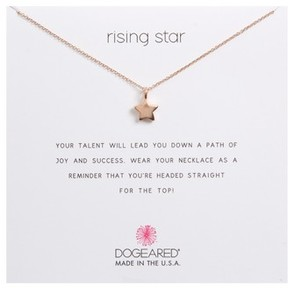 Dogeared Women's Rising Star, Full Star Pendant Necklace