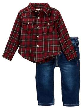 True Religion TR Plaid Woven Shirt & Jeans Set (Baby Boys)