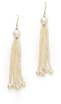 Bloomingdale's Cultured Freshwater Pearl Tassel Earrings in 14K Yellow Gold, 3-9mm - 100% Exclusive