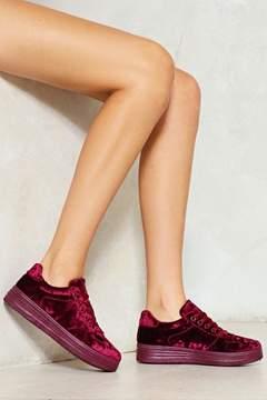 Nasty Gal nastygal Soft Talk Velvet Sneaker