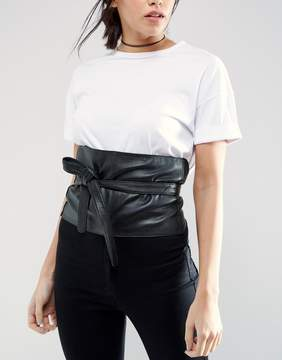 Asos Wide Leather Obi