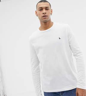 Jack Wills Long Sleeve Logo T-shirt In White