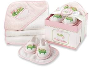 Baby Aspen Infant Girl's Tillie The Turtle 4-Piece Bath Time Gift Set