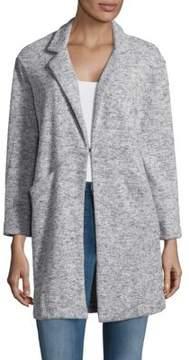 Context Heathered Notch Collar Coat