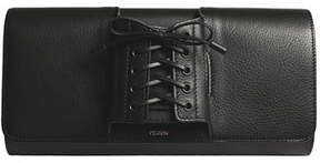 Perrin Paris Le Corset Lace-Up Leather Clutch Bag