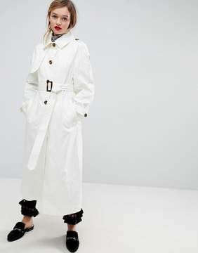 Asos Single Breasted Oversized Trench