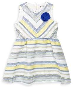 Petit Lem Little Girl's & Girl's Striped Sleeveless Dress